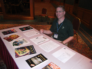 Mr. Hodges with his impressive array of magizine publications